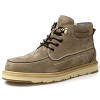 Natural wool Men winter shoes warmest Genuine leather Handmade Men winter snow boots mens boots