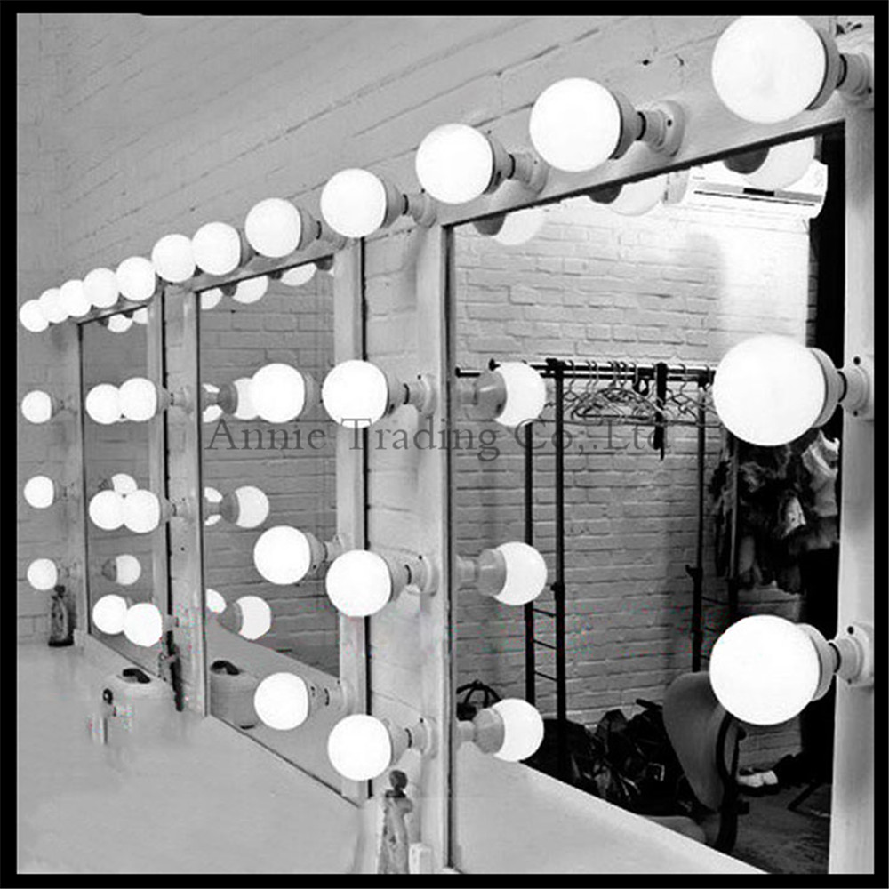 5pcs lot modern dressing room mirror light wall mounted stick up cosmetic mirror lamp e27. Black Bedroom Furniture Sets. Home Design Ideas