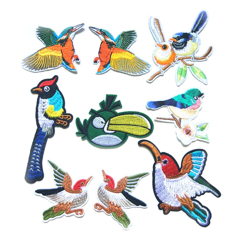 2018 New Toucan Computer Embroidery Cloth Animals Birds Clothing Accessories Decoration Specials D-028