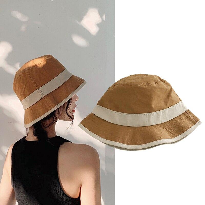 Mode Elegante Sommer Eimer Hut Frauen Männer Strand Hut Baumwolle Floppy Faltbare Eimer Kappe Panama Herbst Frühling Sonnenhut Mädchen Wh075 Kopfbedeckungen Für Damen