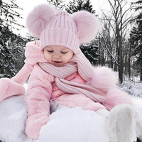 Newborn Infant Baby Girls Winter Romper Hooded Rabbit Ear Jumpsuit Clothes Cute Rabbit Pattern Outfit Toddler
