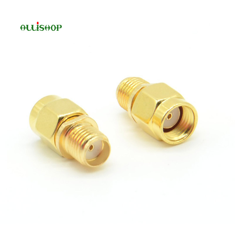 ALLiSHOP 2 pcs RP SMA male to SMA female straight connector RF Coax Coaxial Adapter for Antennas Broadcast Radios WiFi CCTV f type female jack to sma male plug straight rf coax adapter f connector to sma convertor