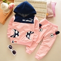 conjunto infantil Autumn Boys Children's Sets Baby Kids Casual 2Pcs Suits Cartoon Hooded Hoodies + Casual Pant Girls Tracksuits