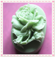 DIY 비누 금형 3D 장미 꽃 유연한 실리콘 금형 수지 사탕 촛불 공예 장식 비누 금형 SM202