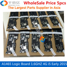 Wholesale Price 5pcs 820-00162-A Laptop Mother board A1465 Logic Board 1.6GHZ 4G i5-5250U Early 2015 For MacBook Air 11′