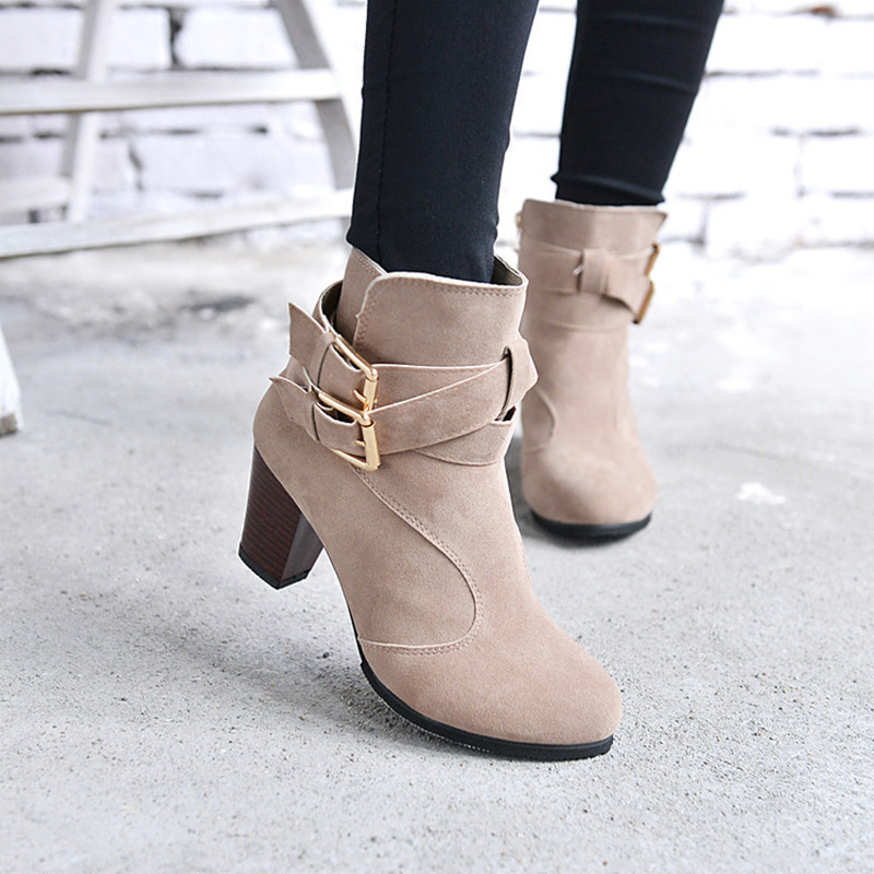 Short Ankle Boots With Heels - Yu Boots