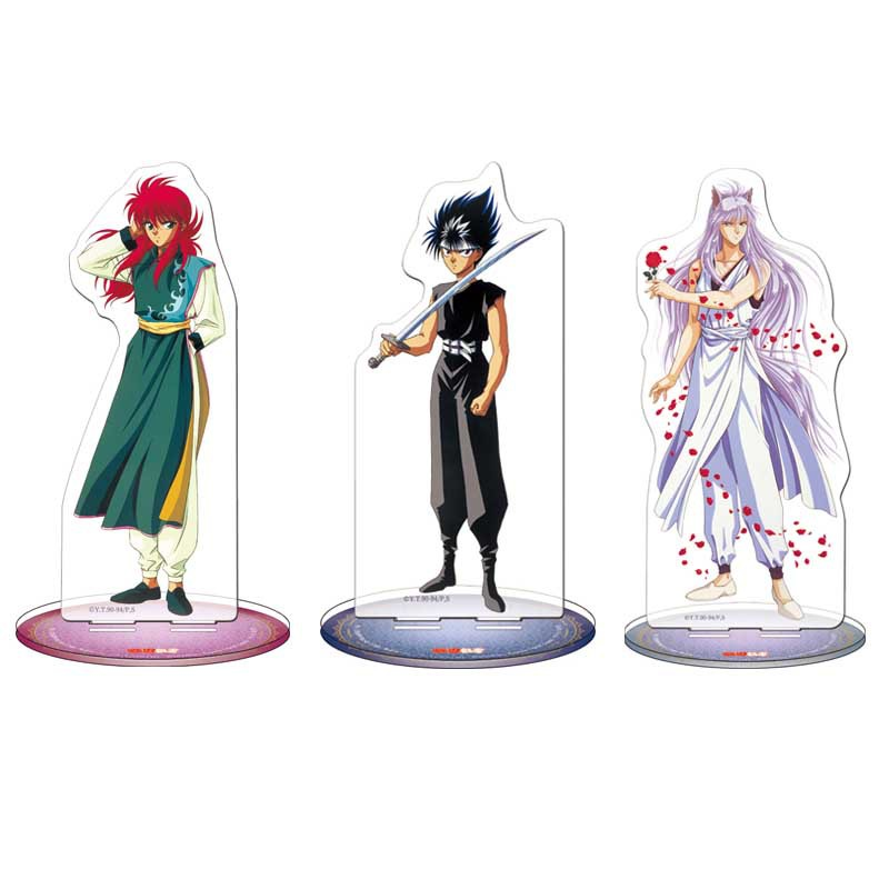 Anime YuYu Hakusho Display Stand Figure Model Plate Holder Japanese Cartoon Figure Acrylic Collection Jewelry Christmas Gift
