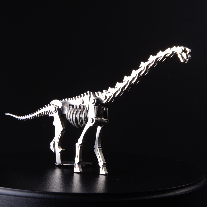 ФОТО 3D Wyvern Model Metal Puzzle Assembling Dinosaur Cut Jigsaws Children DIY Toys Manual Creative Christmas Gifts TK0141