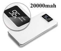 18650 Orijinal Çift USB Güç banka 20000 mAh LCD Telefonları Tablet Için Taşınabilir PowerBank Şarj Harici Pil Hızlı Şarj