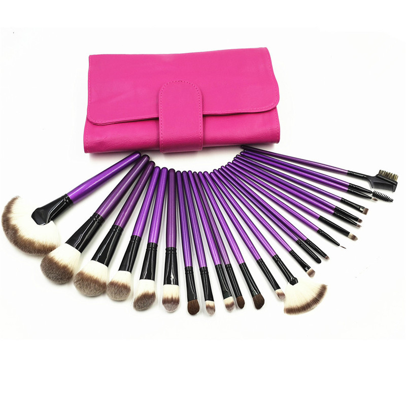 24pcs/Sets Europe And the United States Selling new Makeup Brush 24 blue / Purple Makeup Makeup Tool Manufacturers spot шкафчик sign низкий боковой венге 36х59см ifo 132136100