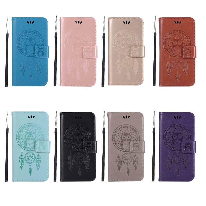 Embossed Wallet Case For Samsung Galaxy A3 2017 PU leather Owl Flip Cover Case For Samsung A3 2017 A320F Case Phone Capa