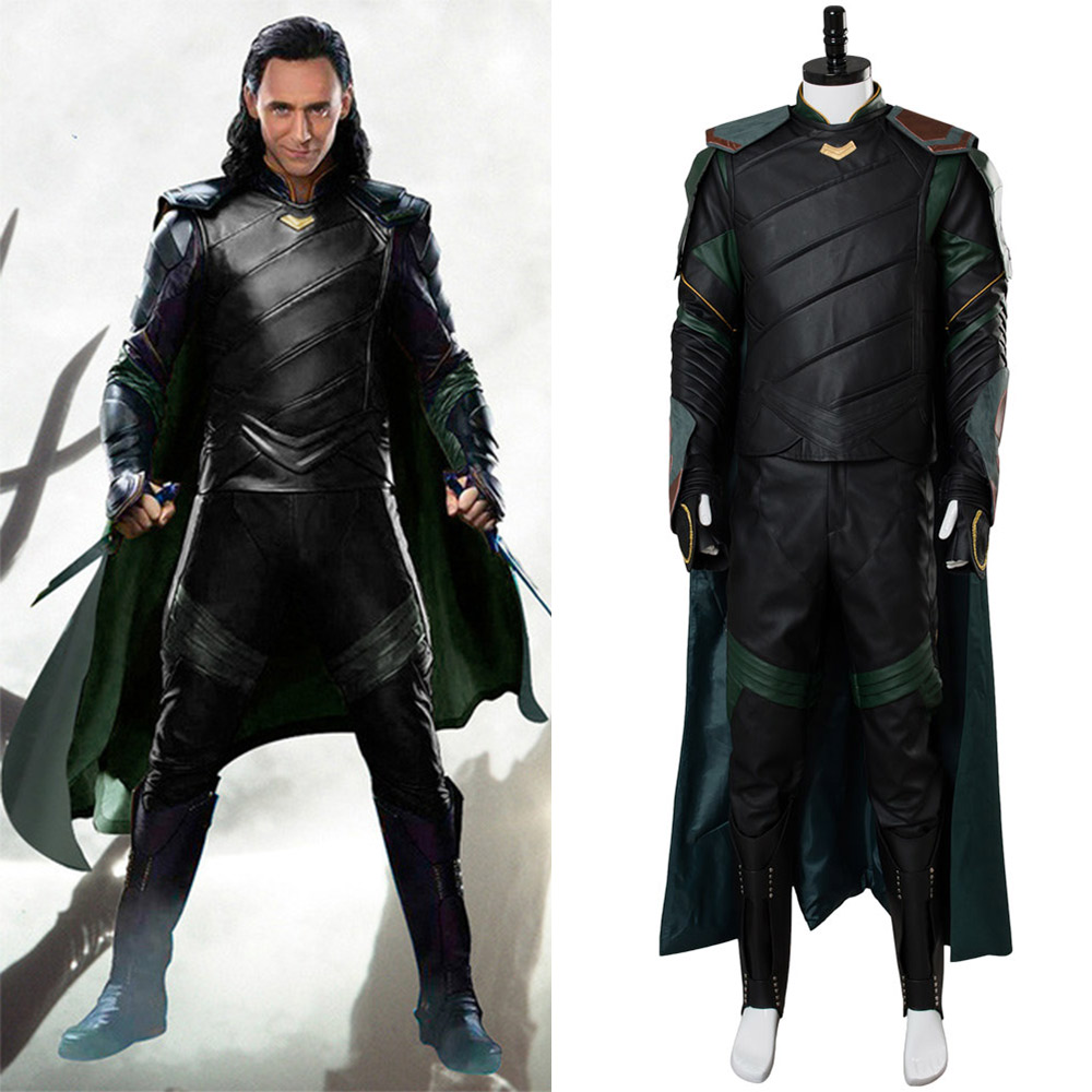 Thor Ragnarok Cosplay Costume Loki Cosplay The Avengers Thor 3 Costume Uniform Full Set Custom Made Halloween Costumes For Adult