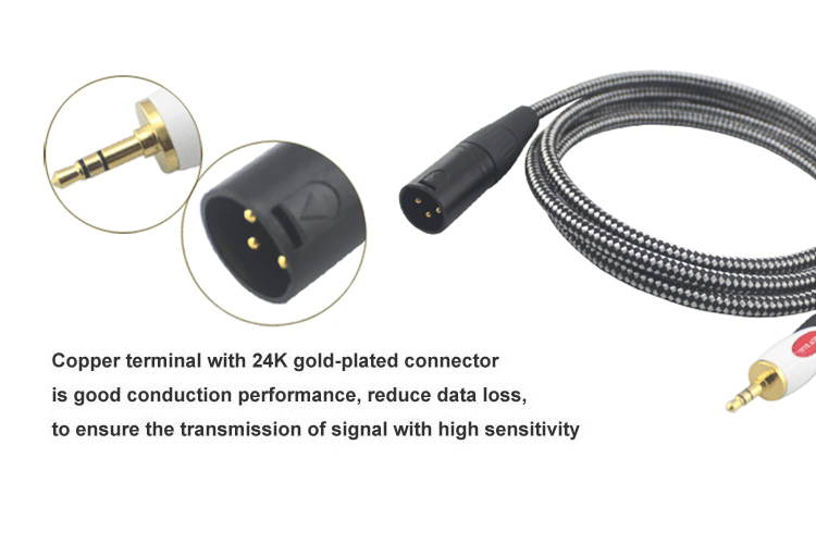 1/8″ Mini Jack 3.5mm to XLR 3 Pin Audio Cable Headphone PC Sound Card Amplifier Mixer Console 3.5 XLR Cable Hifi 1M 2M 3M 5M 8M