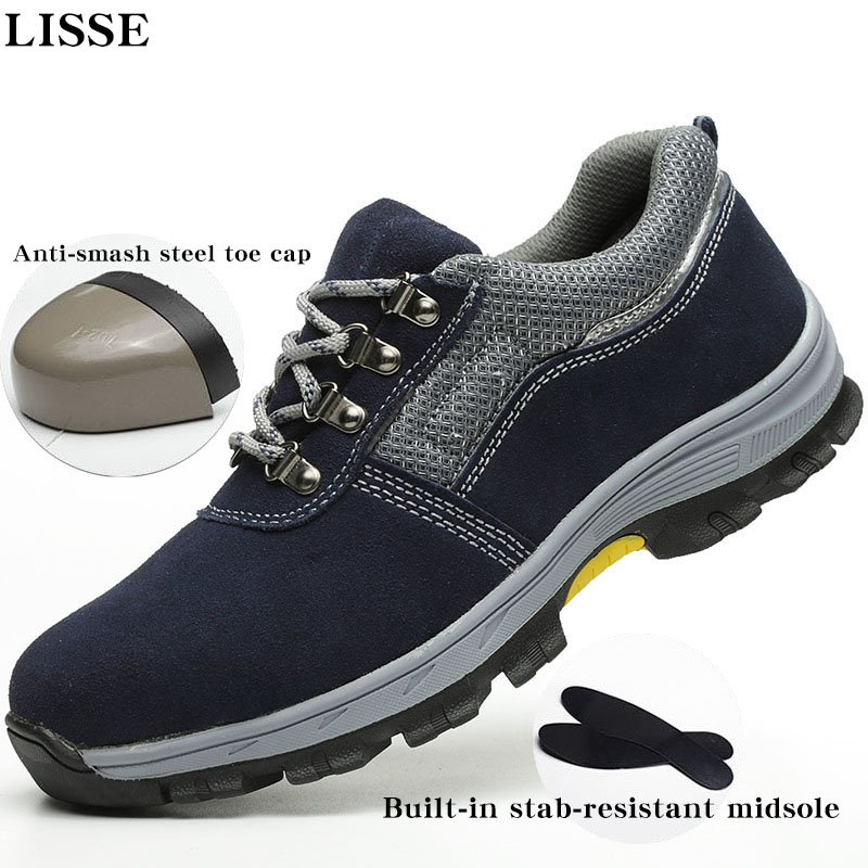 Mens Plus Size fashion breathable deodorant safety light casual shoes steel toe caps perforated mens work boots safety shoes Mens Plus Size fashion breathable deodorant safety light casual shoes steel toe caps perforated mens work boots safety shoes