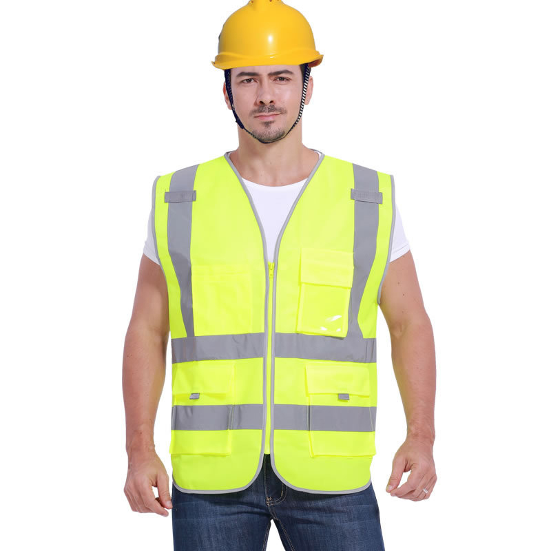 Reflective Safety Vest High Visibility Workwear Vest Multi pockets Working Clothes Outdoor Running Cycling Sport Safety Clothing все цены