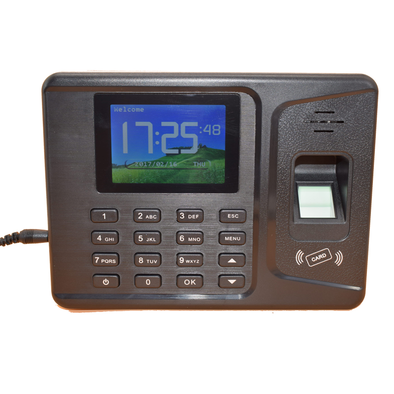 2.8 Inches TFT Display 1000 Users TCP IP USB Rfid Fingerprint Time Attendance 125Khz ID Employee Attendance