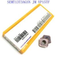 us735 כלי קרביד כלי 20PCS SEMT13T3AGSN JM VP15TF, SEMT13T3AGSN JM US735 טחינה מוסיף מוסיף קרביד כלי מכונת טחינה מחרטה חותך (2)
