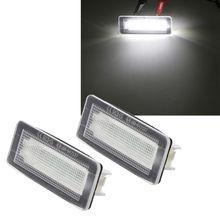 2x18 SMD светодиодный светильник для номерного знака без ошибок для Benz Smart Fortwo Coupe 450 451 W450 W453