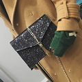 Hobo Vintage Women Messenger Pu Leather Bags for Women Solid Glitter Sequined Chain Tassel PU Leather Flap Crossbody Sac A Main