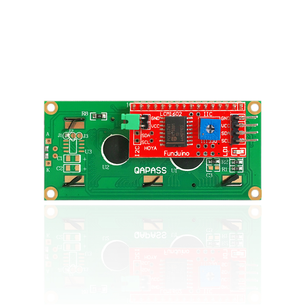 Free shipping !Keyes 16X2 1602 I2C/TWI LCD Display Module for Arduino UNO R3 MEGA 2560 White in Blue