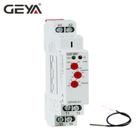 Free Shipping GEYA NEW GRW8 01 Din Rail Temperature Control Relay 16A Wide Range Voltage AC/DC24 240V with Waterproof Sensor