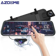 AZDOME PG02 10 Full HD 1080P rearview mirror camera Streaming Media Full-Screen Touch dashcam Dual Lens Night Vision car