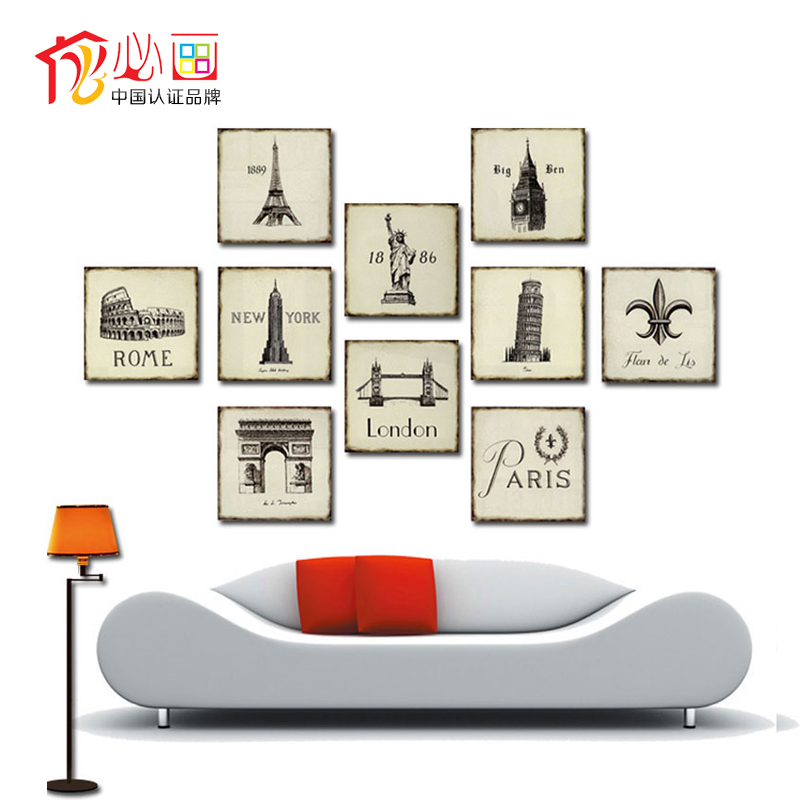 Pictures Modern Minimalist Pictures On The Wall Frameless Painting Home Decor Mural Painting Wall Art Posters And Prints 20*20cm