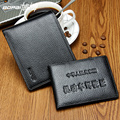 Men Genuine Leather Wallet With Driver License Wallet 2016 Dollar Price Bifold High Quality Two In One Men Wallet