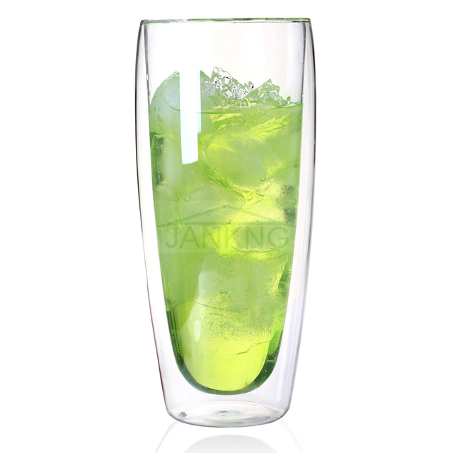 Glass Juice Mugs with Double Walls