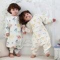 Calidad Kids Cama de Seis Capas de Gasa Uyku Tulumu Pijama Niño Saco de dormir Saco de dormir Pijamas Trajes de Elefante Setas C