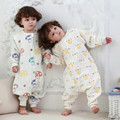 Quality Kids Sleeper Six Layers Gauze Uyku Tulumu Pijama Toddler Sleeping Bag Elephant Mushrooms Sleeping Bag Pajamas Overalls C