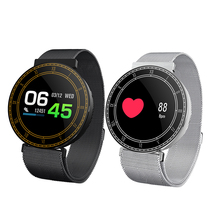 HI Smartwatch Bluetooth Waterproof Sport Smart Bracelet Blood Pressure Metal Strap Color Screen Fitness Tracker Message Push
