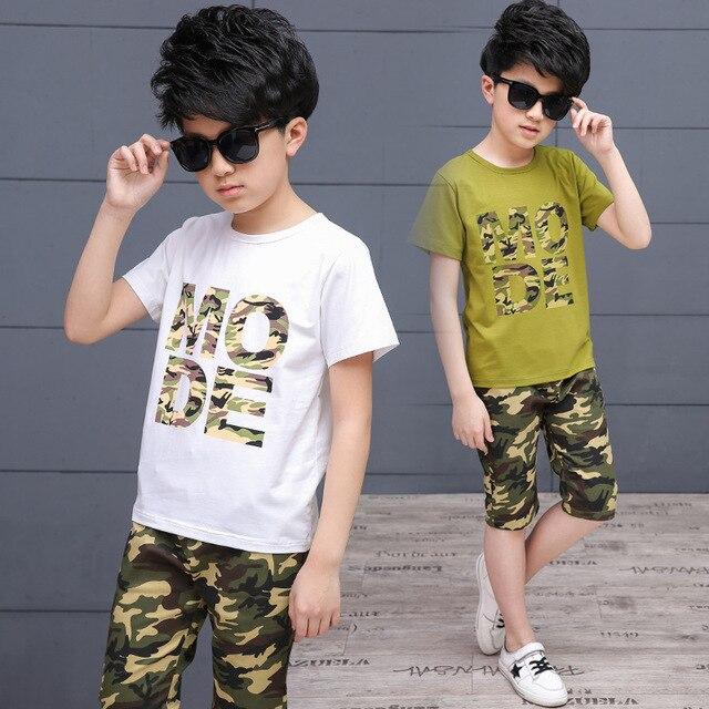 Kinderkleding Jongens.Kinderkleding Jongens En Meisjes Korte Mouwen T Shirt Broek Sport