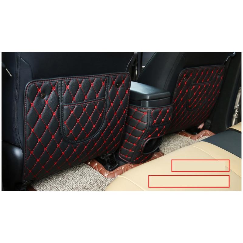 lsrtw2017 fiber leather font b car b font Seat anti kick pad armrest anti kick mat