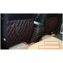 lsrtw2017 fiber lleather car Seat anti-kick pad armrest anti-kick mat for toyota rav4 2013 2014 2015 2016 2017 2018 xa40