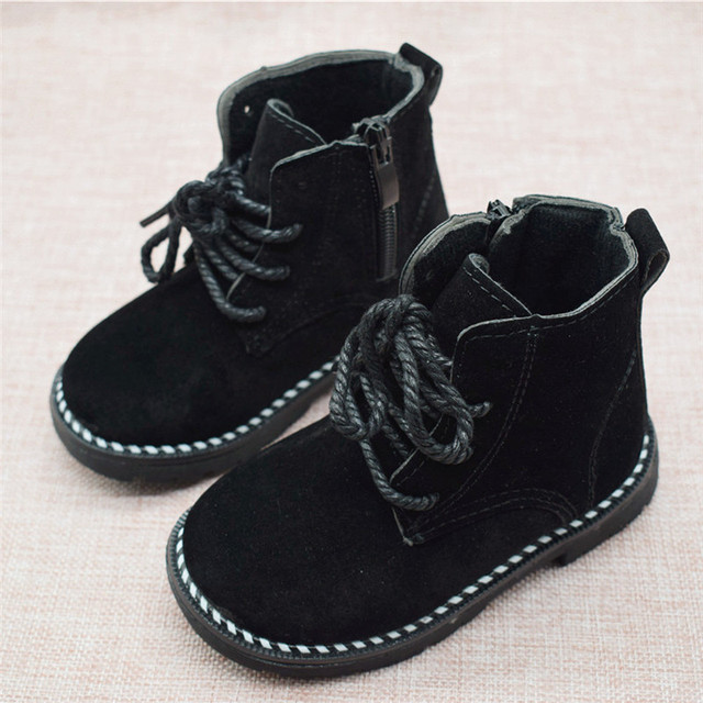 Size 21-30 Fashion 2019 Autumn Boys Baby Boots For Girls Children Martin Boots Kids Ankle Zip Sneakers Girl Casual Toddle Shoes 2