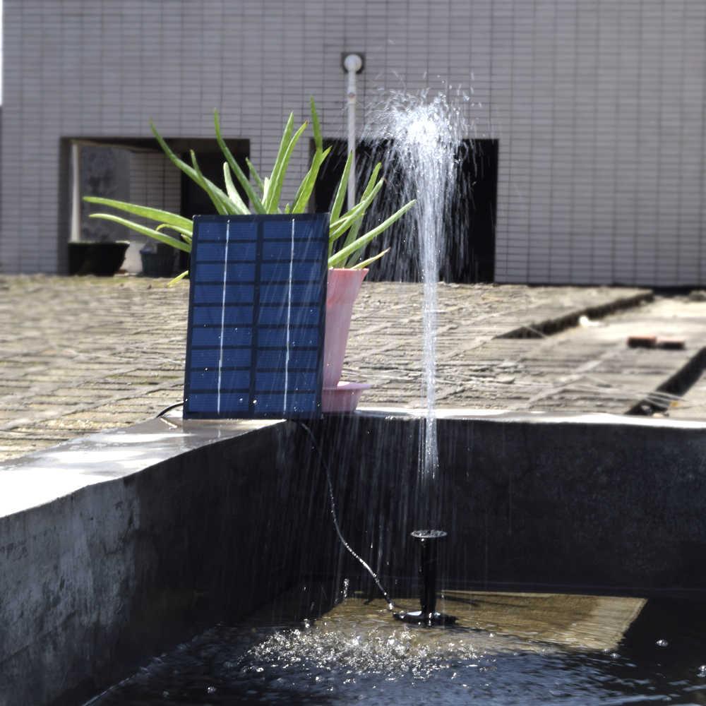 Kit Bomba de Água Solar-Powered 8 V 1.8 W Painel Solar Fonte de Água Flutuante Movido A Energia Solar para Banho Do Pássaro bomba de Água da lagoa Do Jardim