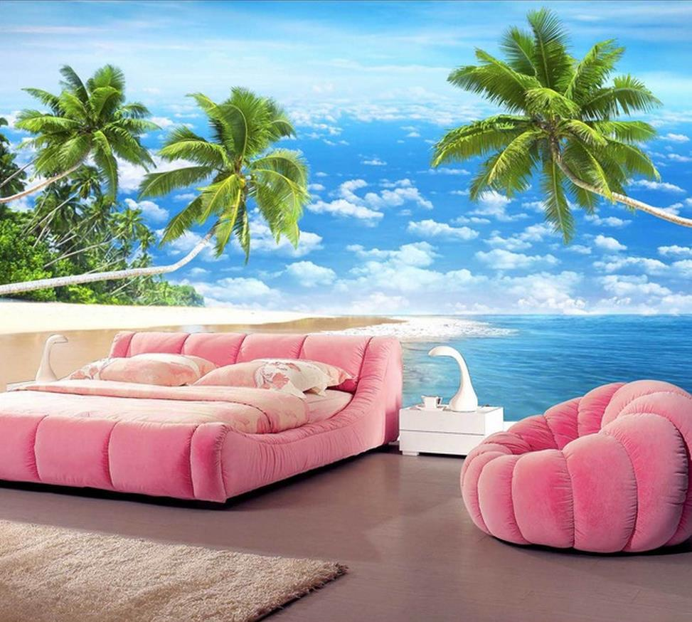 customize wallpaper papel de parede hd 3d beautiful beach scenery 3d