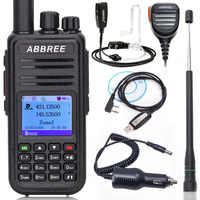 ABBREE AR-UV380 (GPS) DMR Digital Walkie Talkie VHF UHF Dual Band 136-174 & 400-480MHz Dual Time Slot Tier 1&2 DM380 2 Way Radio