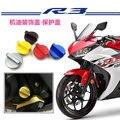 O envio gratuito de acessórios da motocicleta modificado modificado cnc parafuso óleo autobike capa para yamaha r3/yzf ciclomotor tampa do tanque de óleo
