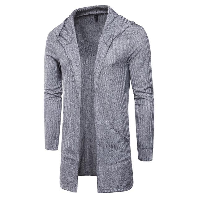 e12e48d2c3 Fashion Men Hooded Sweatshirts Gown Hip Hop Mantle Hoodies Jacket Long  Sleeve Open Front Cloak Man Coats Jacket Outwear z30