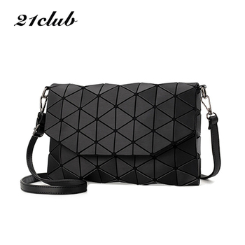 New small solid plaid geometric envelope style handbag
