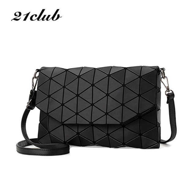 New small solid plaid geometric envelope style handbag