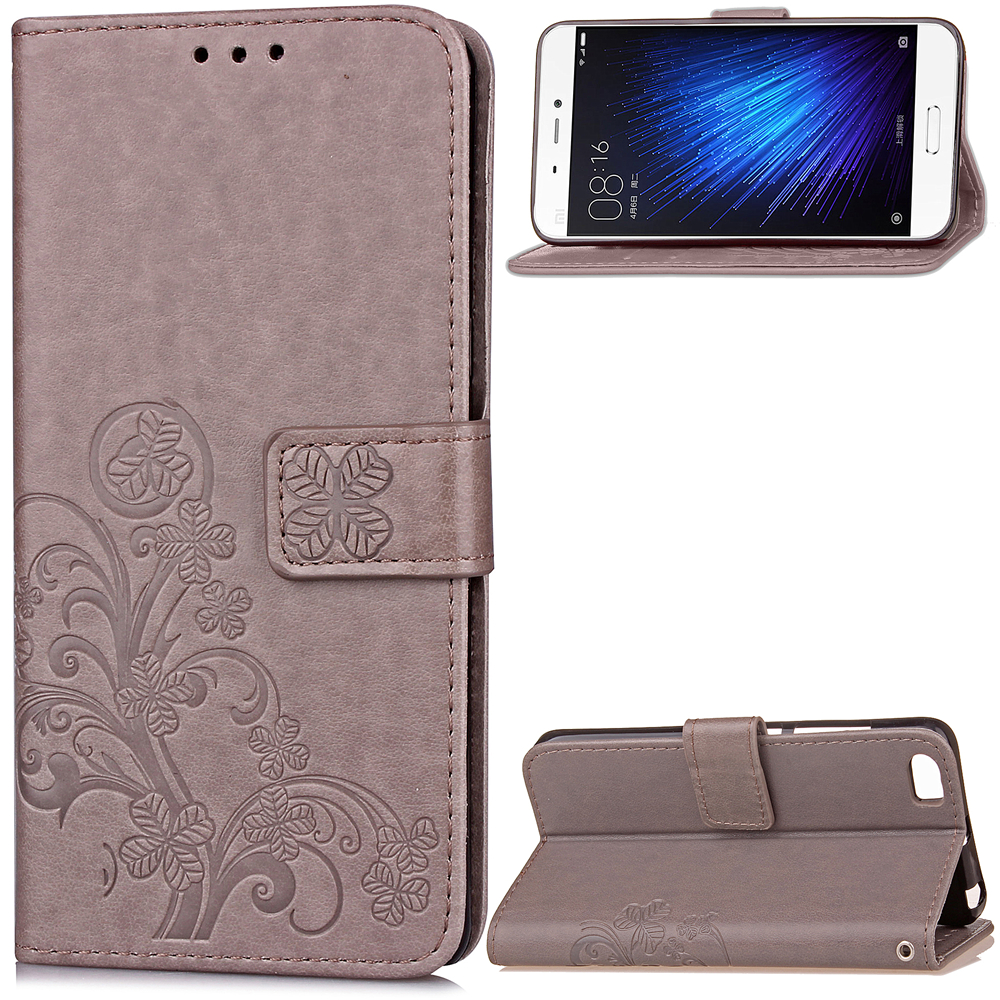 Case For Xiaomi Mi A1 6 5X 5C 5 MAX 2 Leather Four Leaf Clover With Flip Wallet Case For Redmi Note 5A 4X 4A 4 Pro 3 3S 2 Cover