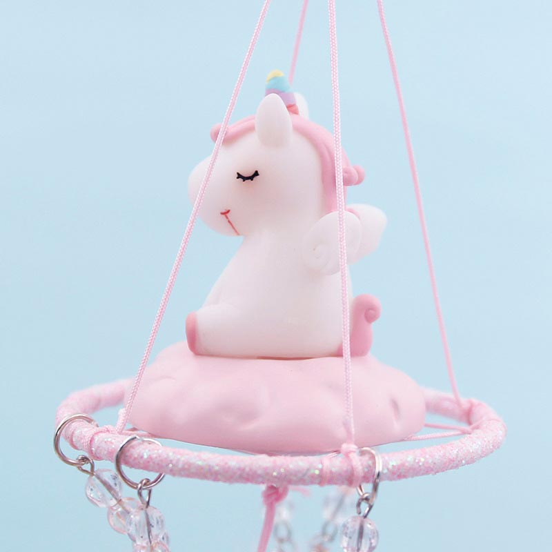 Strongwell Cartoon Unicorn Repellent Wing Chime Resin Crafts Ornaments Accessories Figurines Home Decor Birthday Gift Kids Toy in Figurines Miniatures from Home Garden