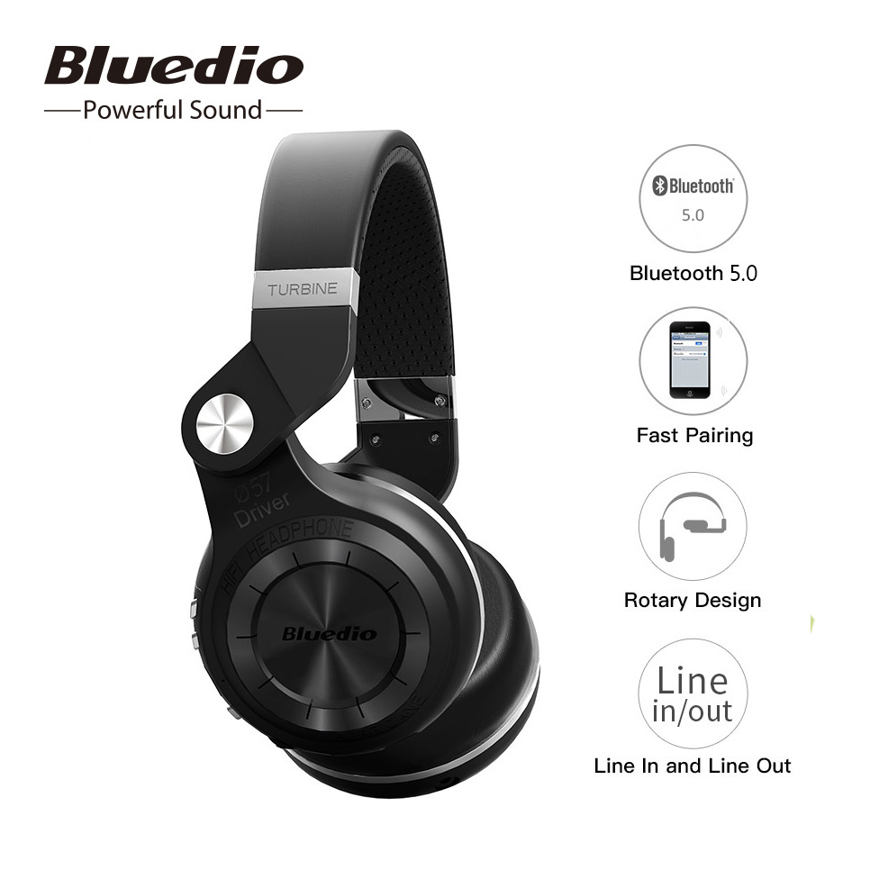 Bluedio Original T2S Bluetooth Wireless Headphone Foldable Bass Headset With Microphone For Smartphone Comfortable Wearing
