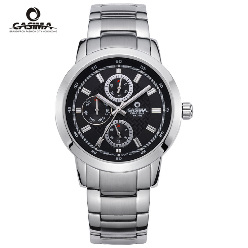CASIMA Luxury Waterproof Week Date Watch Men Fashion Luxury Brand Military Sport Quartz Wrist Watch Clock Man Relogio Masculino casima brand week date mechanical watch men sapphire crystal business automatic wrist watch waterproof clock relogio masculino
