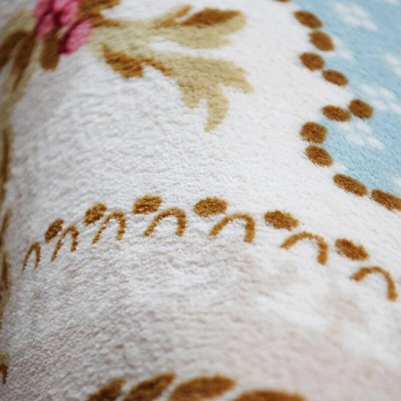 200X240 CM pastorale grands tapis pour salon moderne Rose fleur chambre chevet Europe tapis et tapis canapé Table princesse tapis - 4