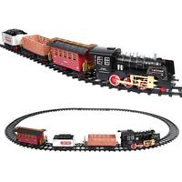 Kids Classic RC Train Toy Sets Funny Realistic Sounds Light Remote Control Railway Car Toys Children Christmas Gift