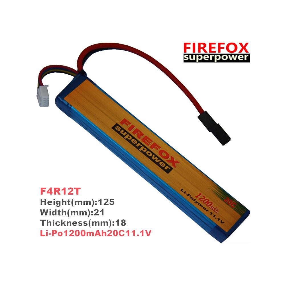 1pcs 100% Orginal Firefox 11.1V 1200mAh 20c LiPo Li-Po Li-Polymer Battery аккумулятор li po 11 1 вольт firefox в туле